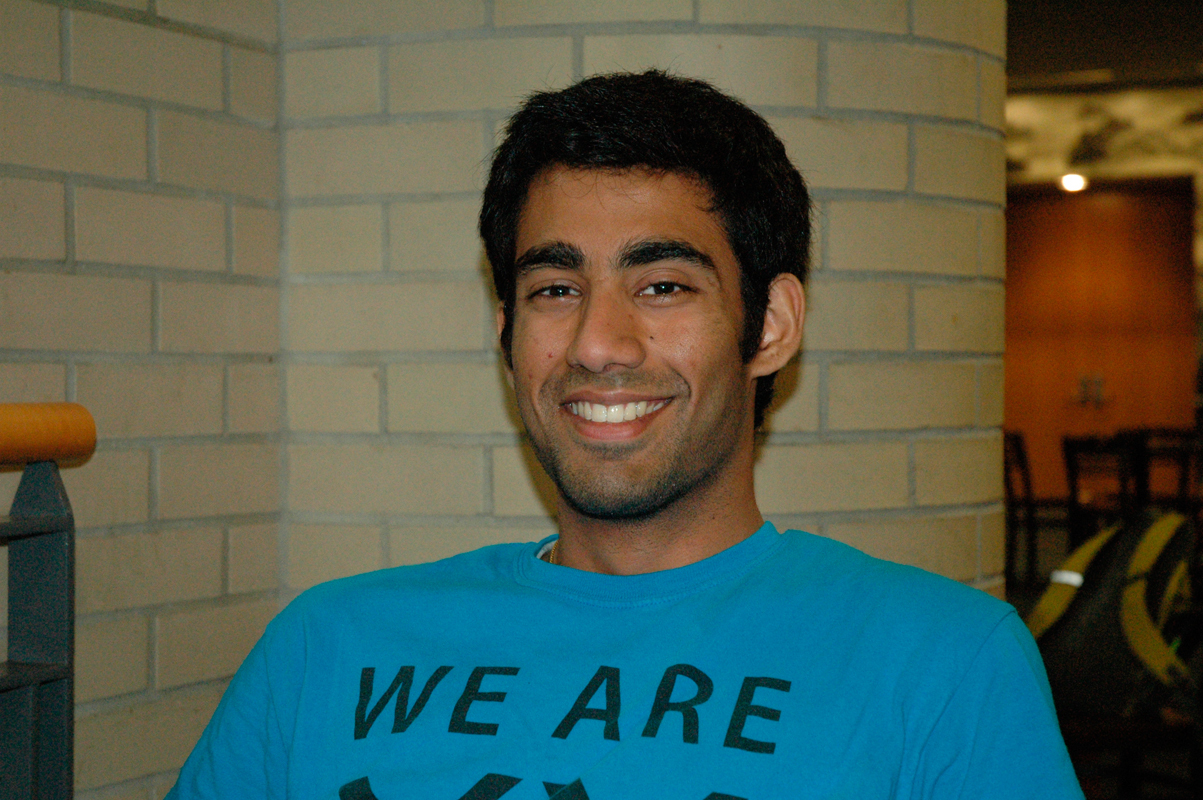 """Vishalsai Daswani ECE, Computer Science Senior  """"What is wrong with this country?"""" (credit: Justin McGown/Online Editor)"""