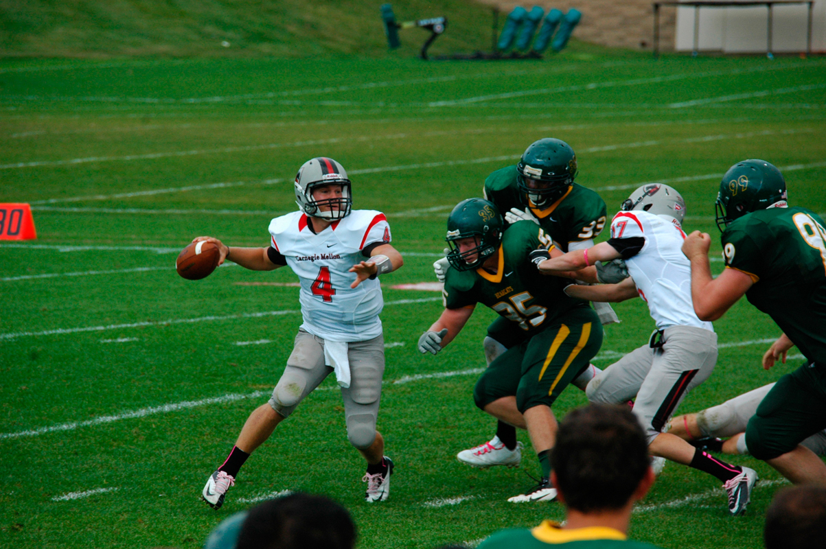 Senior quarterback Rob Kalkstein was recently selected as a semifinalist for the 2013 William V. Campbell Trophy. (credit: Kelsey Scott/Operations Manager)