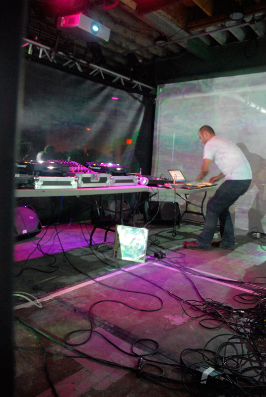Bulgarian dance music artist DJ KiNK kept the  energy going and the crowd dancing at Saturday's A/V Showcase as part of the 2013 VIA Festival.  (credit: Martha Paterson/)