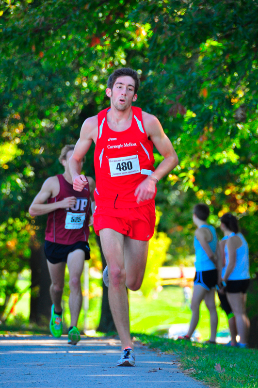 Senior Josh Newby (above) finished second overall in the Carnegie Mellon Invitational. (credit: Jason  Chen/Staff Photographer)