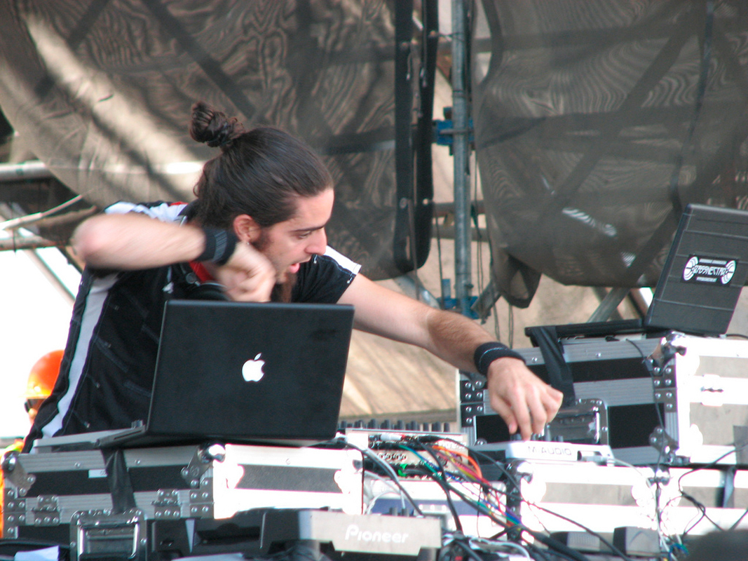Lorin Ashton, better known as Bassnectar, performs distinctive shows by mixing tracks on stage. (credit: Courtesy of MaryJanePoppins via Flickr)