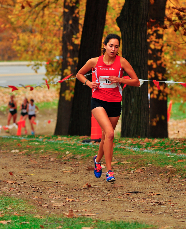 Sophomore Rekha Schnepf finished first on the women's side. (credit: Jason  Chen/Staff Photographer)