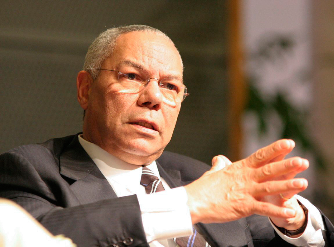 "Former Secretary of State Colin Powell gave a talk titled ""Diplomacy: Persuasion, Trust and Values"" at Carnegie Music Hall on Tuesday.  (credit: Courtesy of Charles Haynes)"
