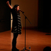 Spoken word poet and Project V.O.I.C.E founder Sarah Kay performed for a large crowd in McConomy Auditorium.