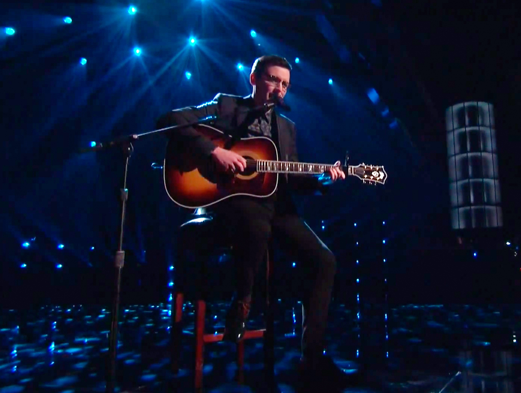 Former Carnegie Mellon student, and now top 12 contestant on NBC's _The Voice_, James Wolpert performed a stripped-down version of Joni Mitchell's 