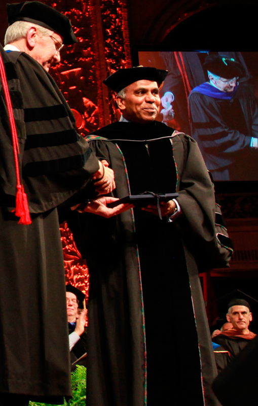 President Suresh spoke during the investiture ceremony, which took place in Carnegie Music Hall last Friday.    (credit: Michelle  Wan /)