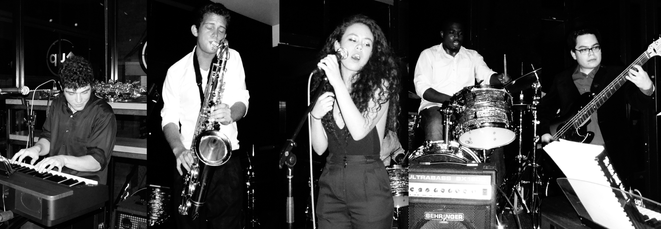The Mariko Reid Quintet, comprised of Carnegie Mellon students across multiple disciplines, combines an array of genres including jazz and hip-hop in energetic and crowd-pleasing performances. (credit: Photo illustration courtesy of Daniel KilKelly via the Mariko Reid Quintet)