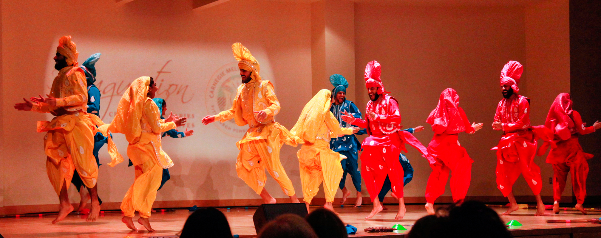 Carnegie Mellon's Bhangra team put on an exhibition during the Inauguration ceremony.  (credit: Michelle  Wan /)