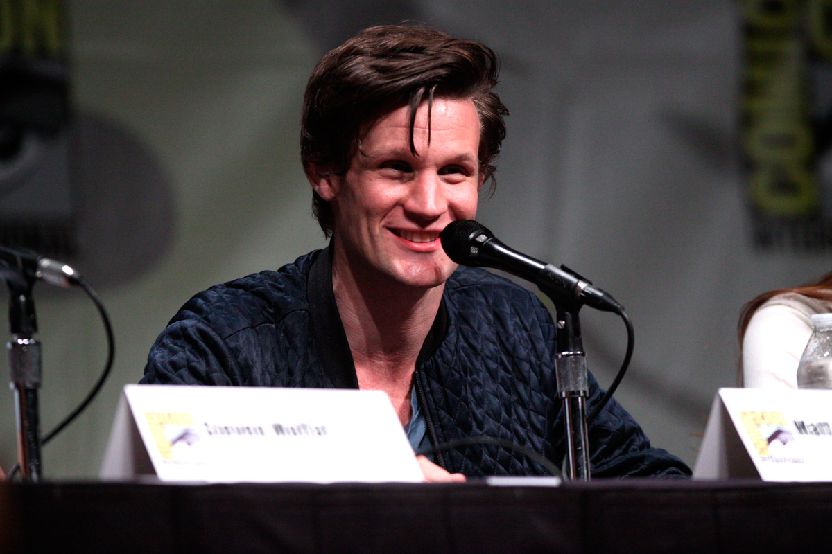 """In the _Doctor Who_ anniversary special, actors David Tennant, Matt smith, and John Hurt came together as the 10th, 11th, and newfound """"lost"""" regenerations of the Doctor, respectively. (credit: Courtesy of Wikimedia Commons)"""