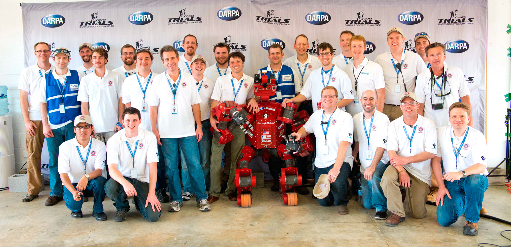 The Tartan Resucue Team poses with its third-place robot, CHIMP. (credit: Courtesy of Nick Letwin)