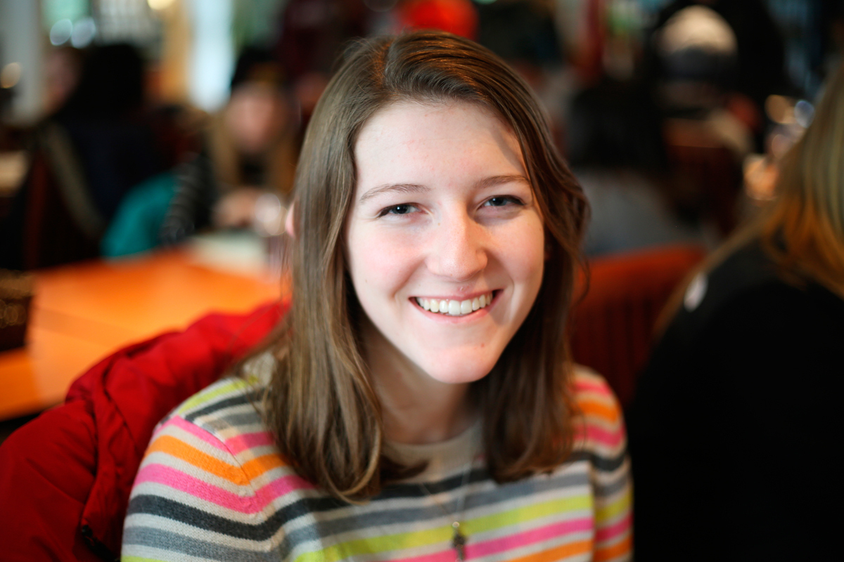 """Laura Caton Technical Writing Sophomore  """"Excited for crew and to see Gujri!"""" (credit: Sara Remi Fields/)"""