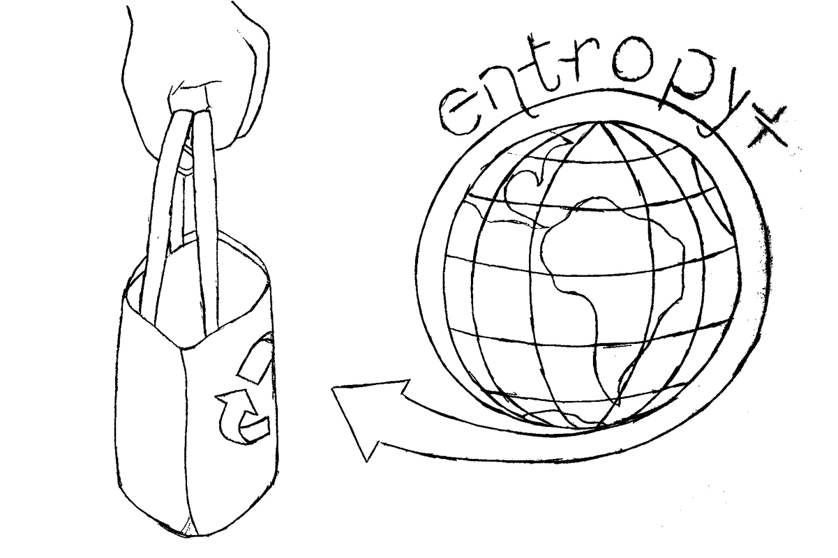 Entropy+ ditches plastic bags for a greener campus (credit: Alison Chiu/Advertising Staff Member)