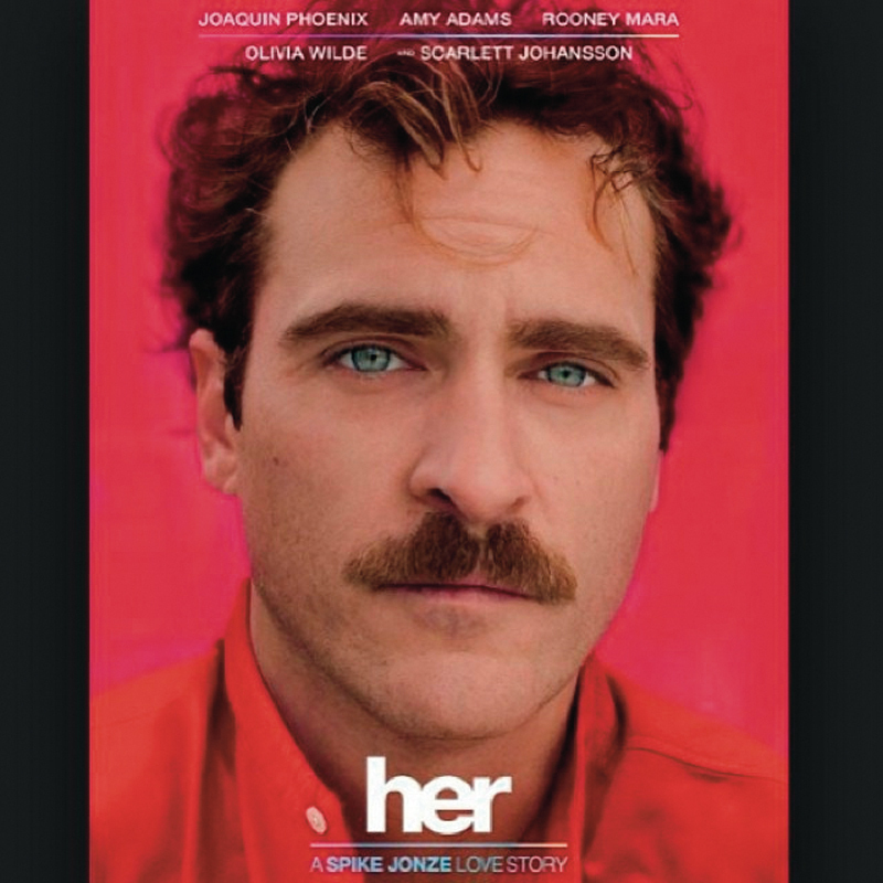 _Her_ tells the story of Theodore Twombly (Joaquin Phoenix), a lonely man who falls in love with an intelligent operating system named Samantha (Scarlett Johansson). (credit: Courtesy of Thigo Martins via Flickr)