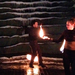 Performing three times over the course of the night in Agnes R. Katz Plaza, Steel Town Fire wowed audiences with their graceful dancing that incorporated flaming objects.