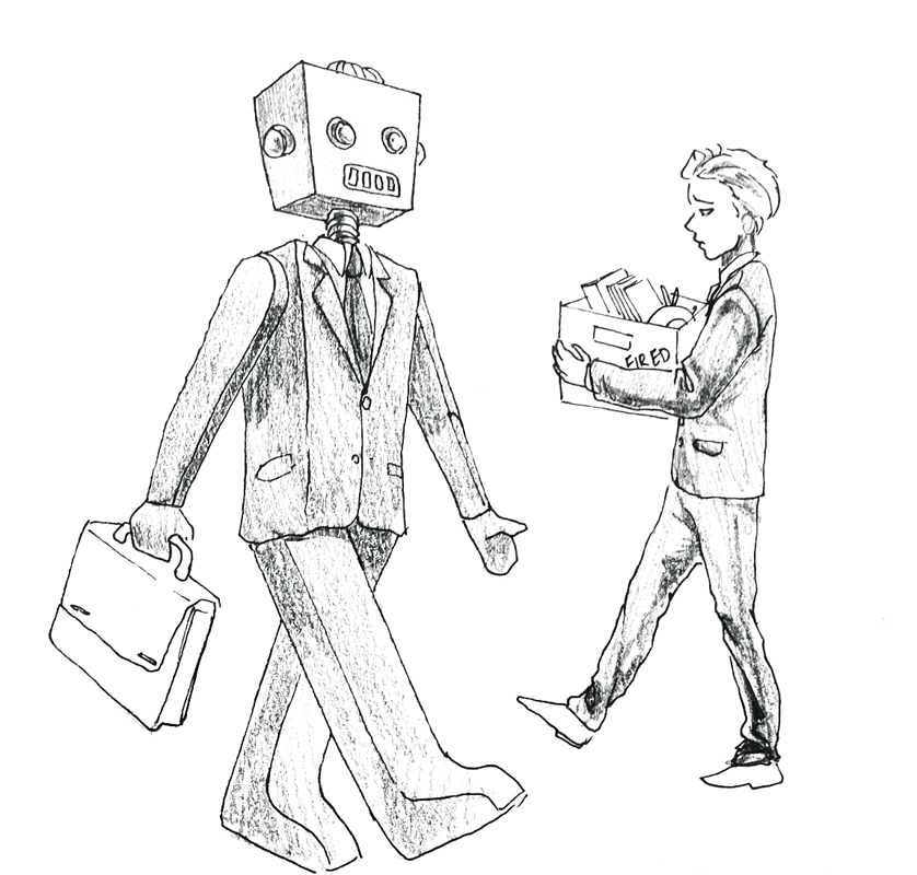 Dystopian future fast arriving as robots steal human jobs (credit: Eunice Oh/)