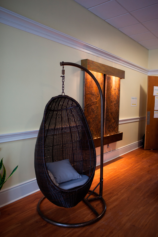 The Mindfulness Room includes comfortable chairs for stressed students.  (credit: Jonathan Leung/Photo Editor)
