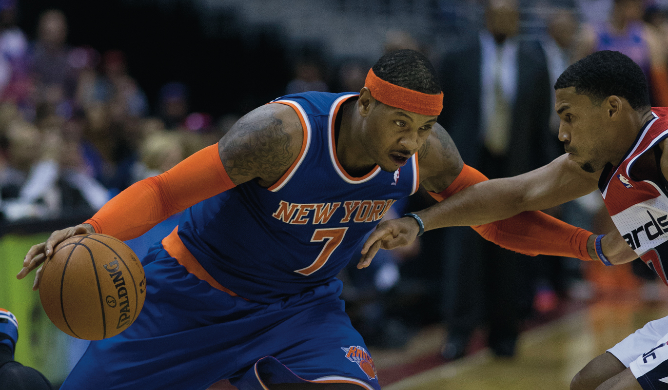 Carmelo Anthony has contributed to both the Knicks' successes and their problems. (credit: Keith Allison via Flickr)