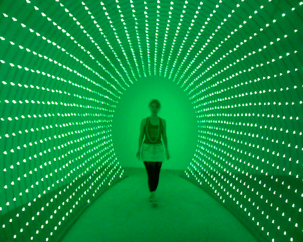 Erwin Redl's main artistic mission in his large-scale light installations is to investigate how humans experience space and structure.  (credit: Courtesy of anthony ko via Flickr)