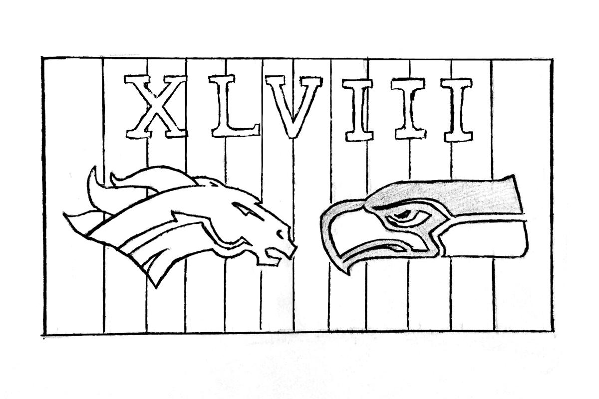 The Seattle Seahawks dominate the Denver Broncos in Super Bowl XLVIII. (credit: Alison Chiu/Advertising Staff Member)