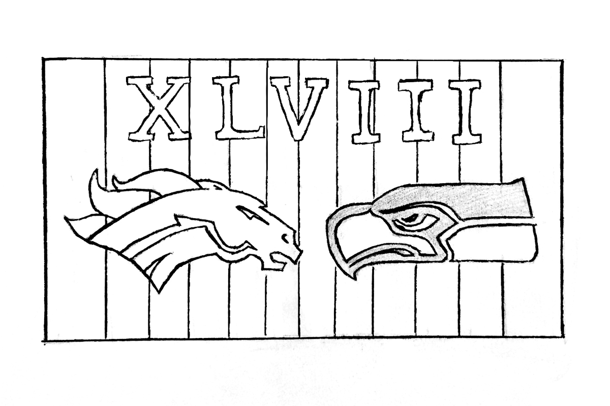 The Seattle Seahawks dominate the Denver Broncos in Super Bowl XLVIII.