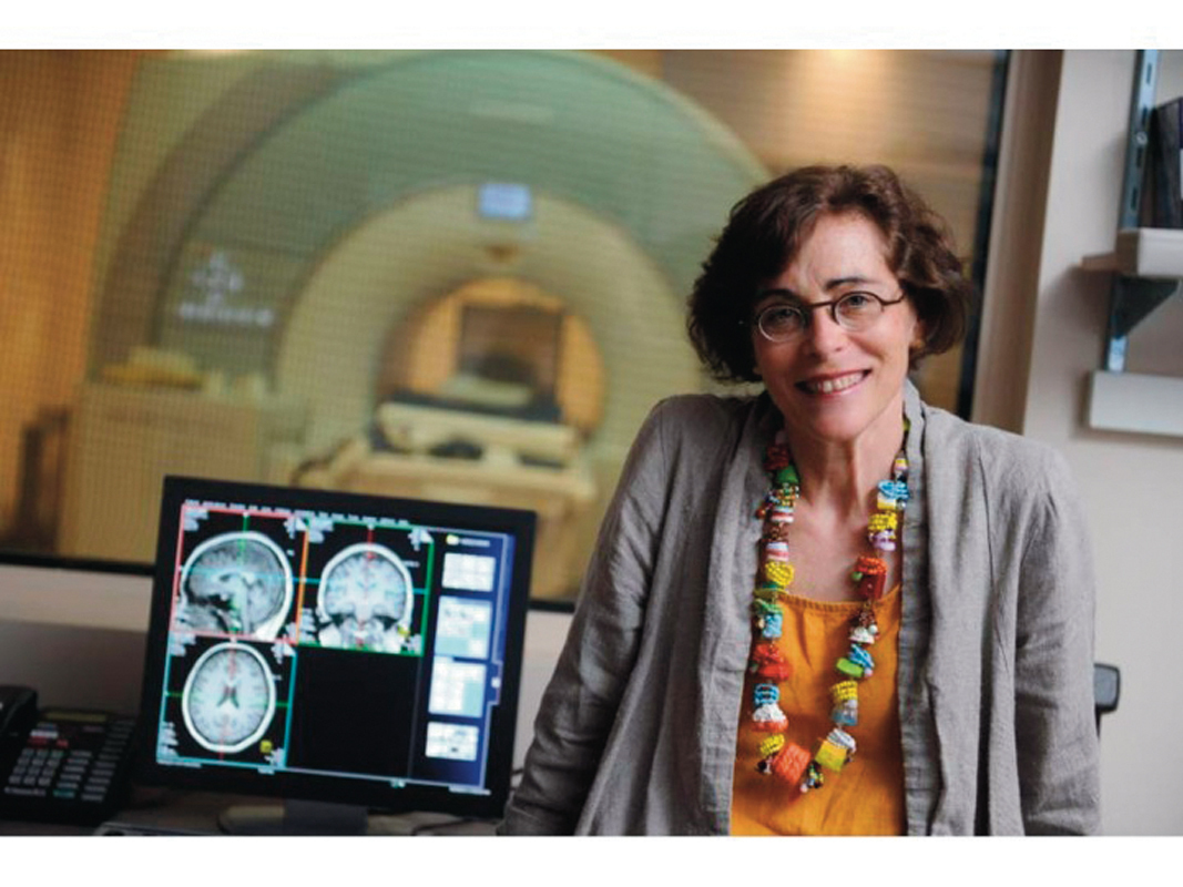 Professor of psychology Marlene Behrmann studies brain plasticity, the ability of the brain to change and adapt its structure and function. (credit: Marlene Behrmann)