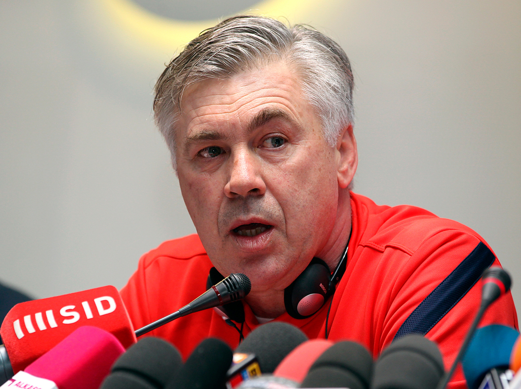Carlo Ancelotti, manager for Madrid's soccer team, has poised his team to sweep their season. (credit: Courtesy of Doha Stadium Plus Qatar via Flickr)
