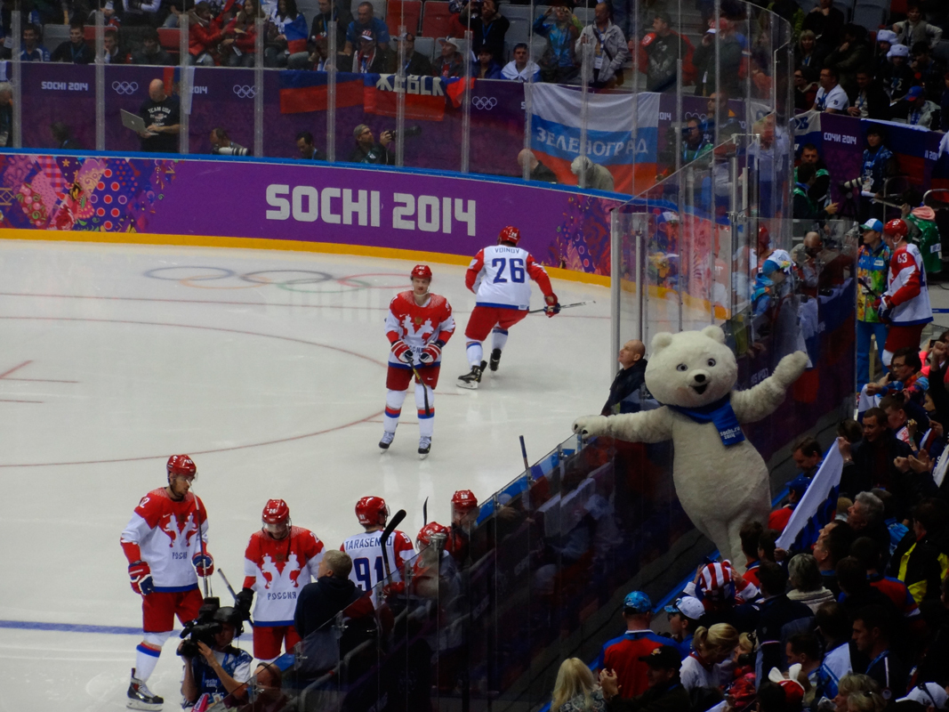 The United States men's hockey team was defeated by Canada, Finland, and Russia in a heartbreaking Olympic run. These results leave the Penguins with a challenge in their team energy. (credit: Courtesy Ivanaivanova via Wikimedia Commons)