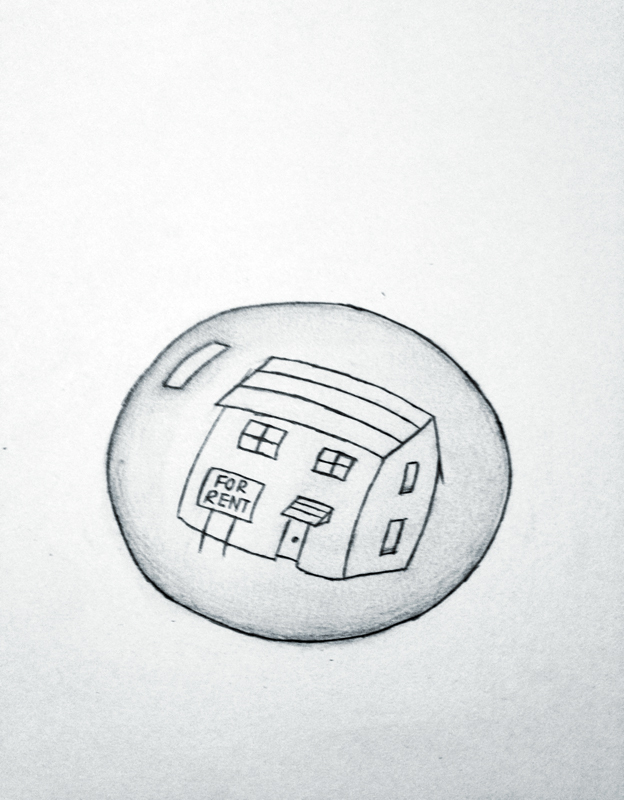 Wall street to blow new housing bubble (credit: Alison Chiu/Advertising Staff Member)