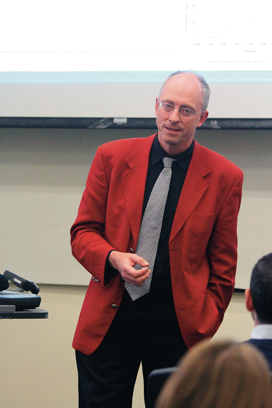 Professor Van Loosdrecht gave a lecture on wastewater treatment last Friday.  (credit: Jonathan Carreon/Contributing Editor)