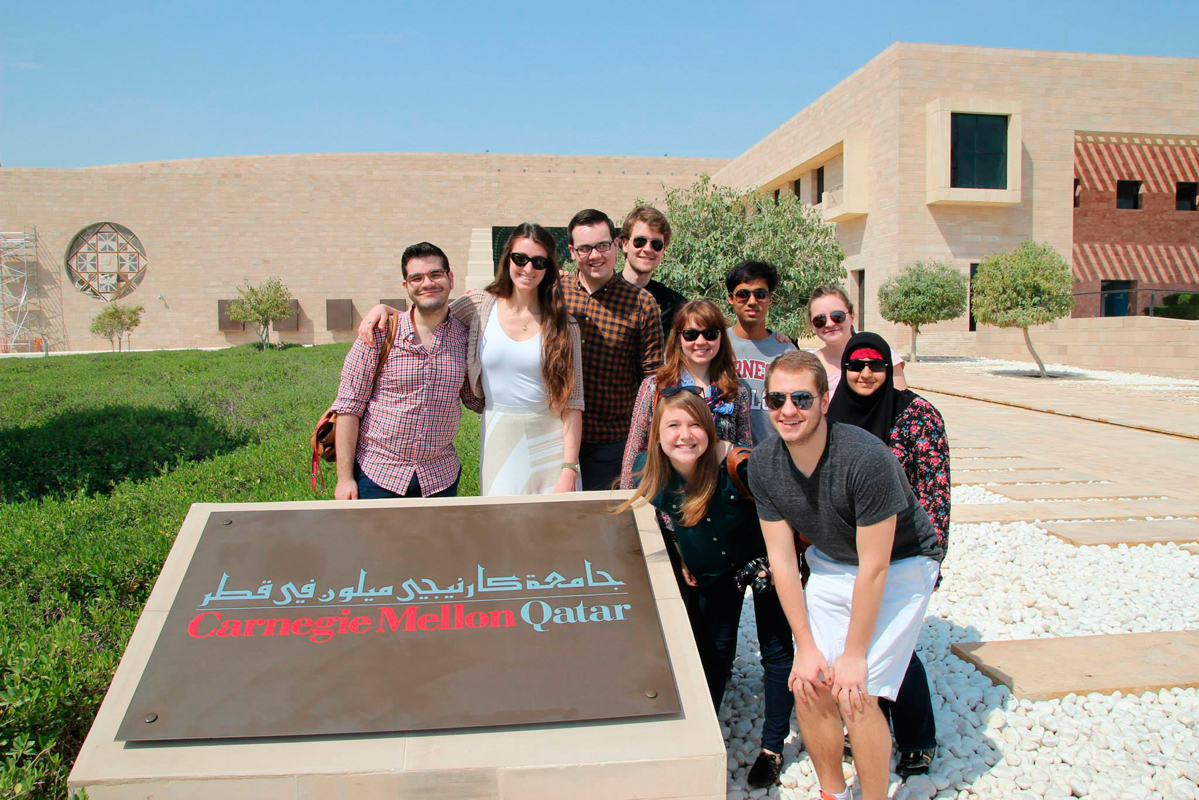 The Initiating Meaningful Pittsburgh and Qatar Ties (IMPAQT) program is meant to create a more tangible connection between Carnegie Mellon's Pittsburgh and Doha campuses.  (credit: Courtesy of Kaytie Nielsen)