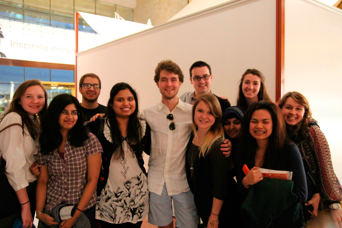 The Initiating Meaningful Pittsburgh and Qatar Ties (IMPAQT) program is meant to create a more tangible connection between Carnegie Mellon's Pittsburgh and Doha campuses.  (credit: Courtesy of Kaytie Nielsen )