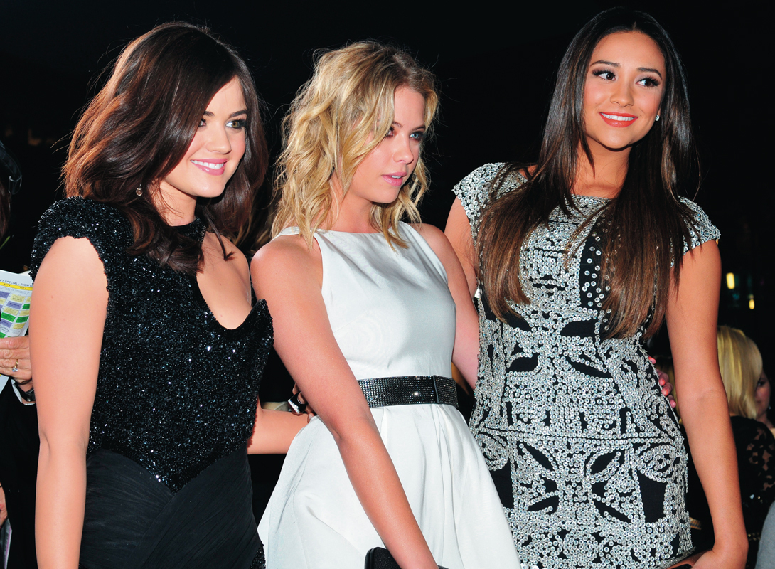 "Aria (Lucy Hale), Hanna (Ashley Benson), and Emily (Shay Mitchell) are three of the four ""liars"" whose lives have been consumed by their hunt for ""A."" (credit: Courtesy of JJ Duncan via Flickr)"
