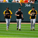 Pirates pitchers Francisco Liriano, Jason Grilli, and Gerrit Cole take the field. The Pirates hope to continue their strong performance this season.
