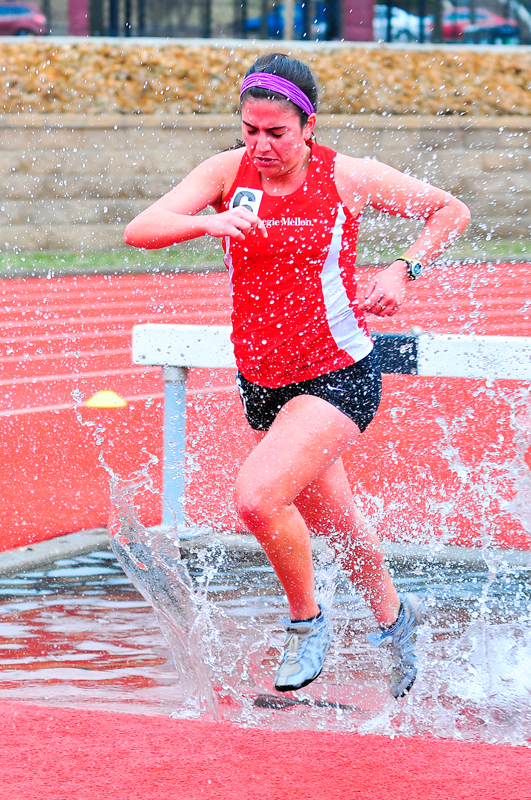 Junior Hailey Brown scored a victory in steeplechase. (credit: Jason  Chen/)