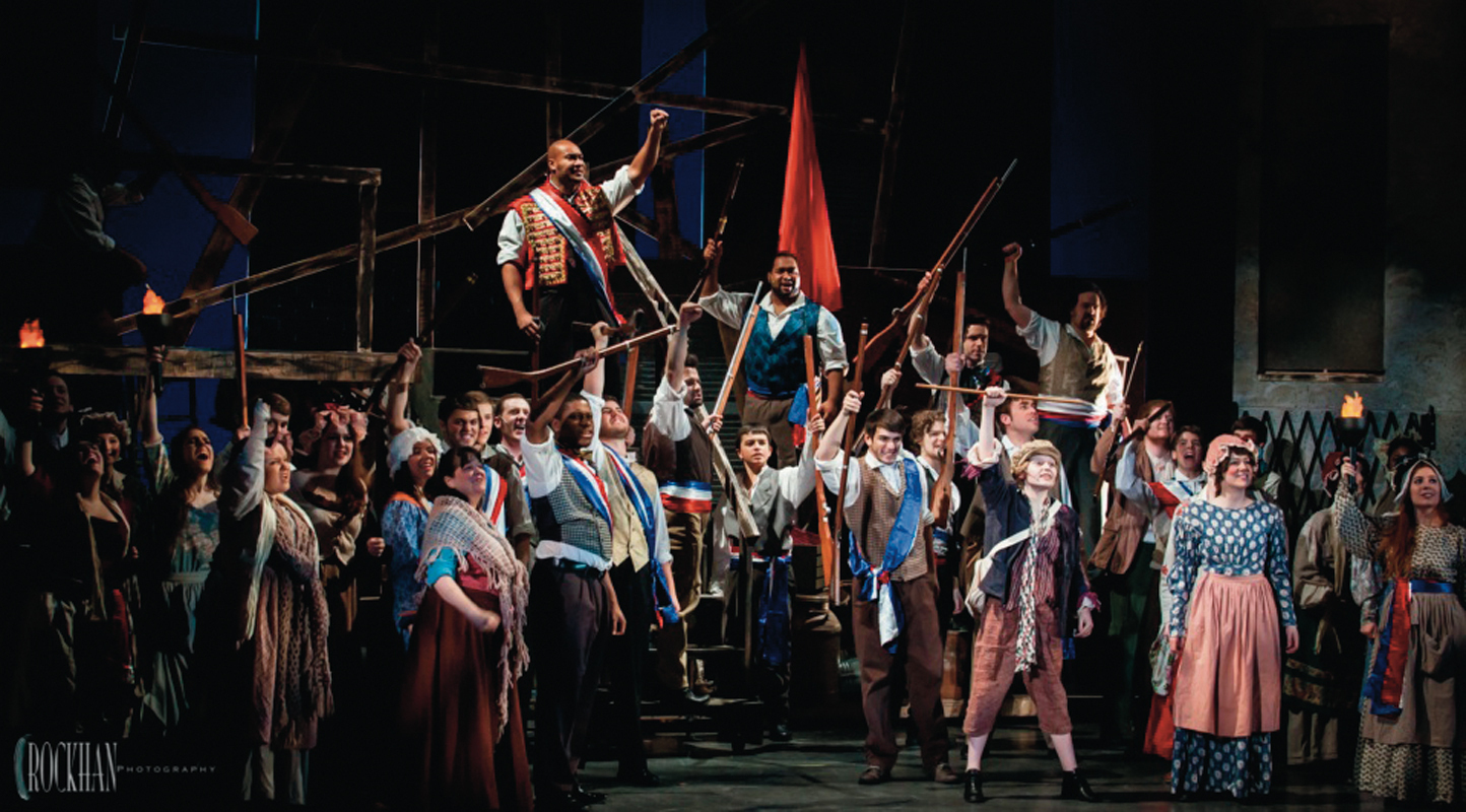 The lower classes of France rise up to have their voices finally heard in *Les Miserables,* which tells a stirring tale of redemption amidst the political turmoil of the failed June Rebellion of 1832. (credit: Courtesy of Pittsburgh Musical Theatre)