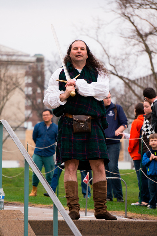 Armstrong commentated the races in a kilt. (credit: Abhinav Gautam/)
