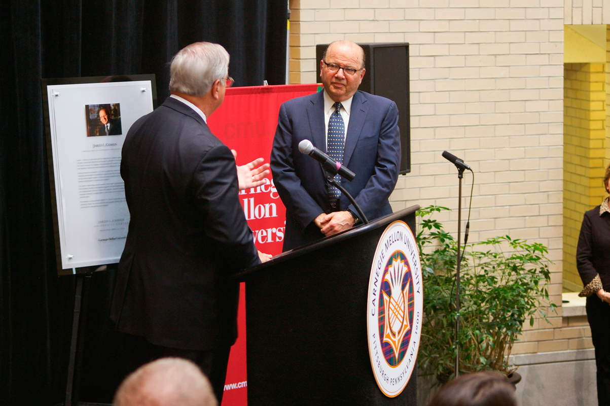 The university celebrated the University Center's renaming with a ceremony in Kirr Commons with speakers such as Jared L. Cohon.  (credit: Greg Hanneman/Senior Staffwriter)