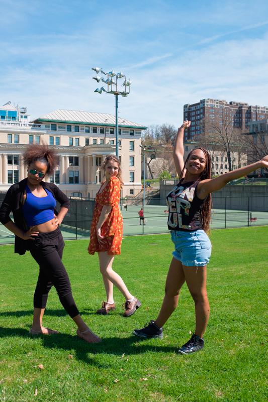 [Left to Right] Chante Adams, Cara Ronzetti, and Johari Mackey. (credit: Jonathan Leung/Photo Editor)