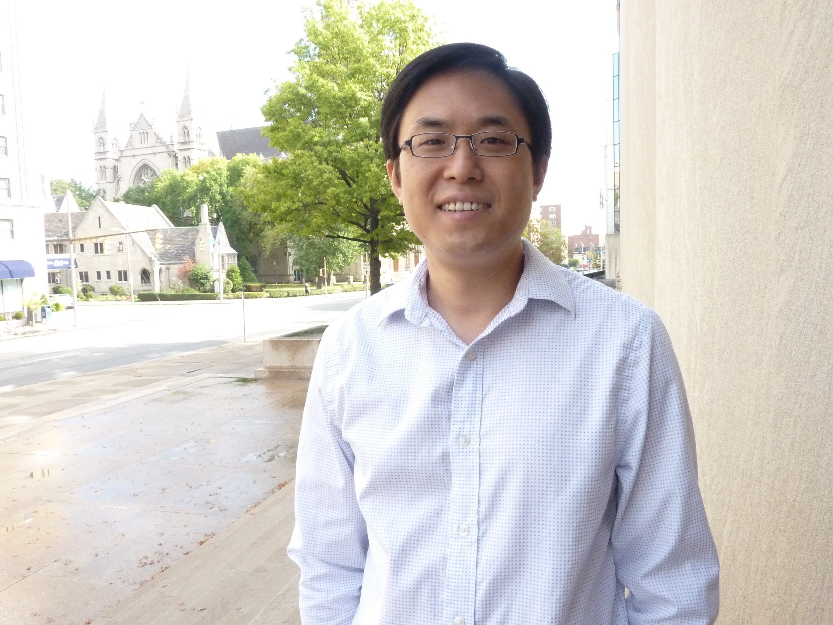 Yisong Guo, an assistant professor of chemistry, studies carbapenems, antibiotics used to treat drug-resistant bacterial infections. (credit: Courtesy of Yisong Guo)