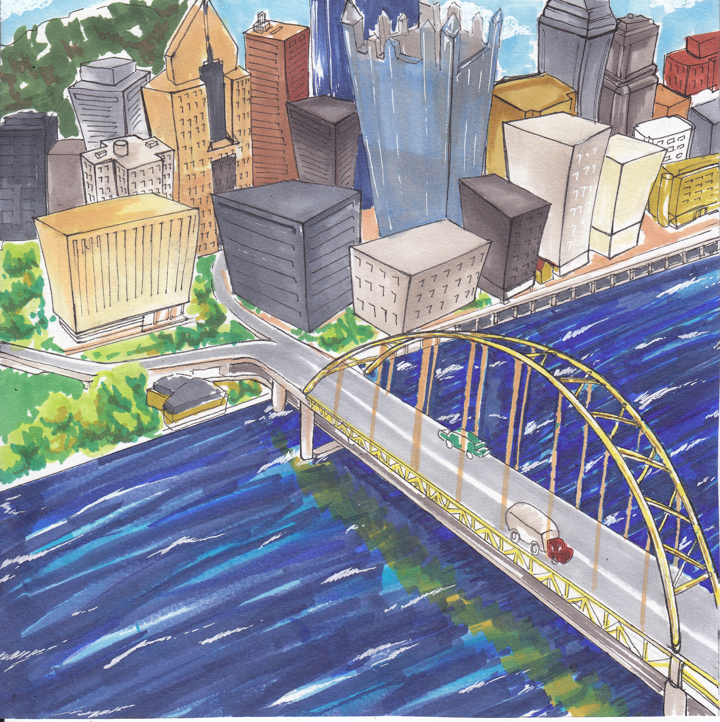 A guide to Pittsburgh's neighborhoods and districts. (credit: Eunice Oh/Assistant Art Editor)