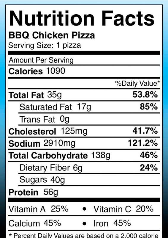 Dining Services' new mobile app lets students see nutrition facts for any menu item on the fly.  (credit: Screenshots via Carnegie Mellon's Nutrition app)