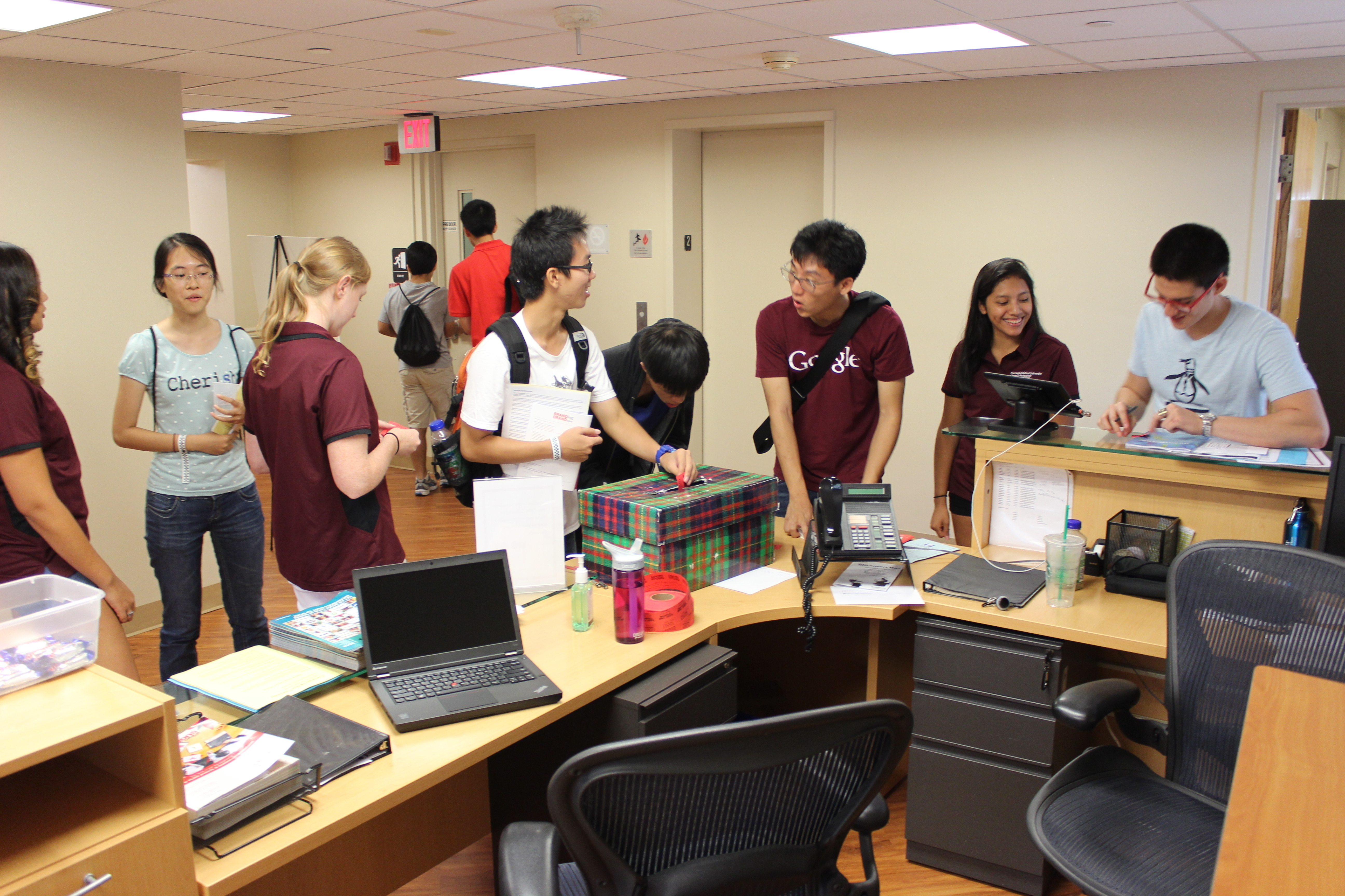 First-year students tour the Career and Professional Development Center's new location on the second floor of West Wing. (credit: Courtesy of Kevin O'Connell of the Career and Professional Development Center)