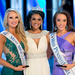 Junior musical theatre major Amanda Fallon Smith (right) poses next to Miss America 2014 Nina Davuluri (center) and Miss Maryland Jade Kenny (left).