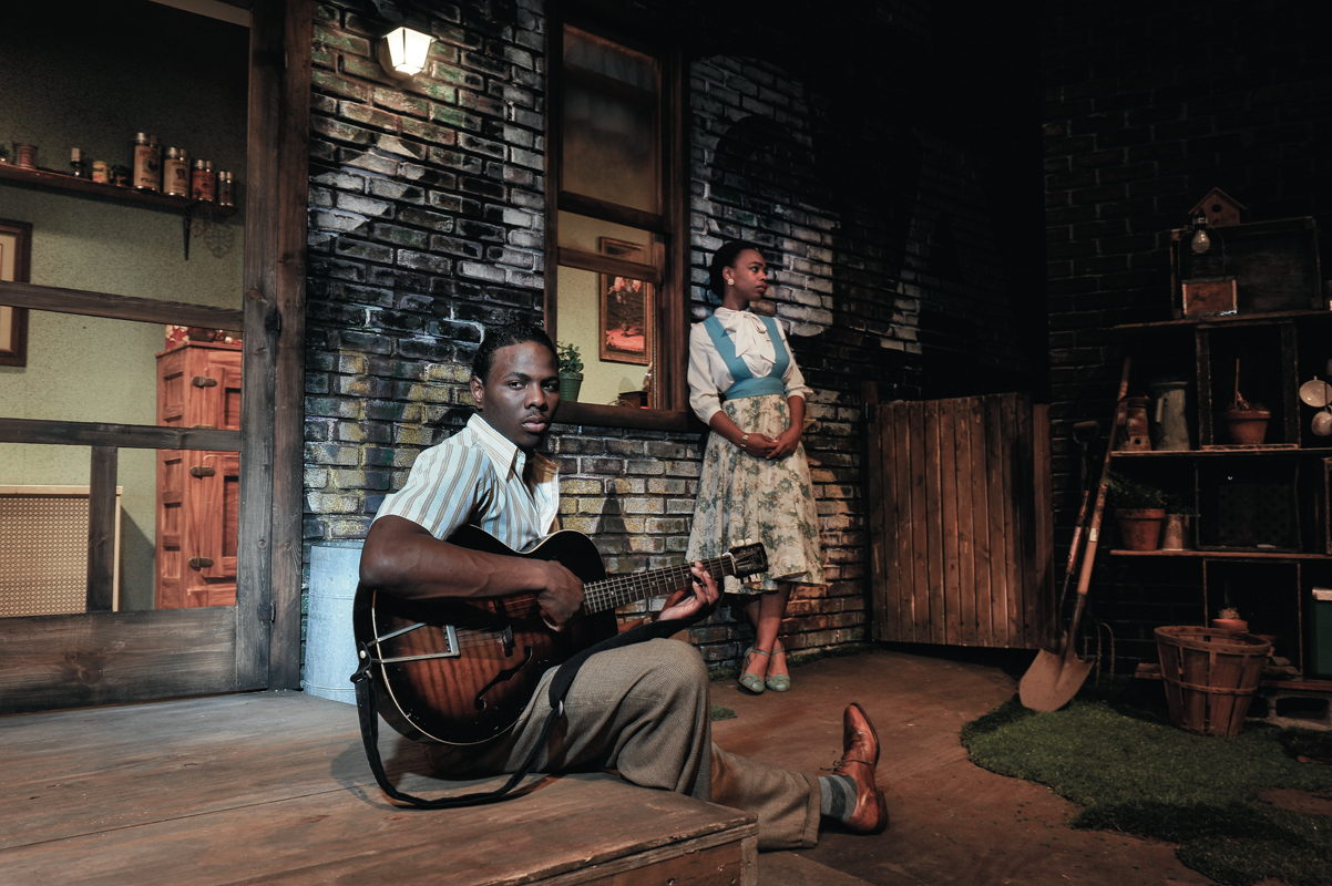 Senior acting majors Mitchell Edwards (Floyd) and Johari Mackey (Vera) are two standout performers from the School of Drama's season-opening production of August Wilson's Seven Guitars. (credit: Photo courtesy of Louis Stein)