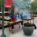 The CUC expansion celebration on Thursday included a barbecue in the newly renovated Legacy Plaza.