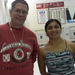 Coach Rauterkus (left) with team captain Maya Holay (right).