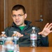 Co-founder of PayPal Max Levchin speaks at a press roundtable.
