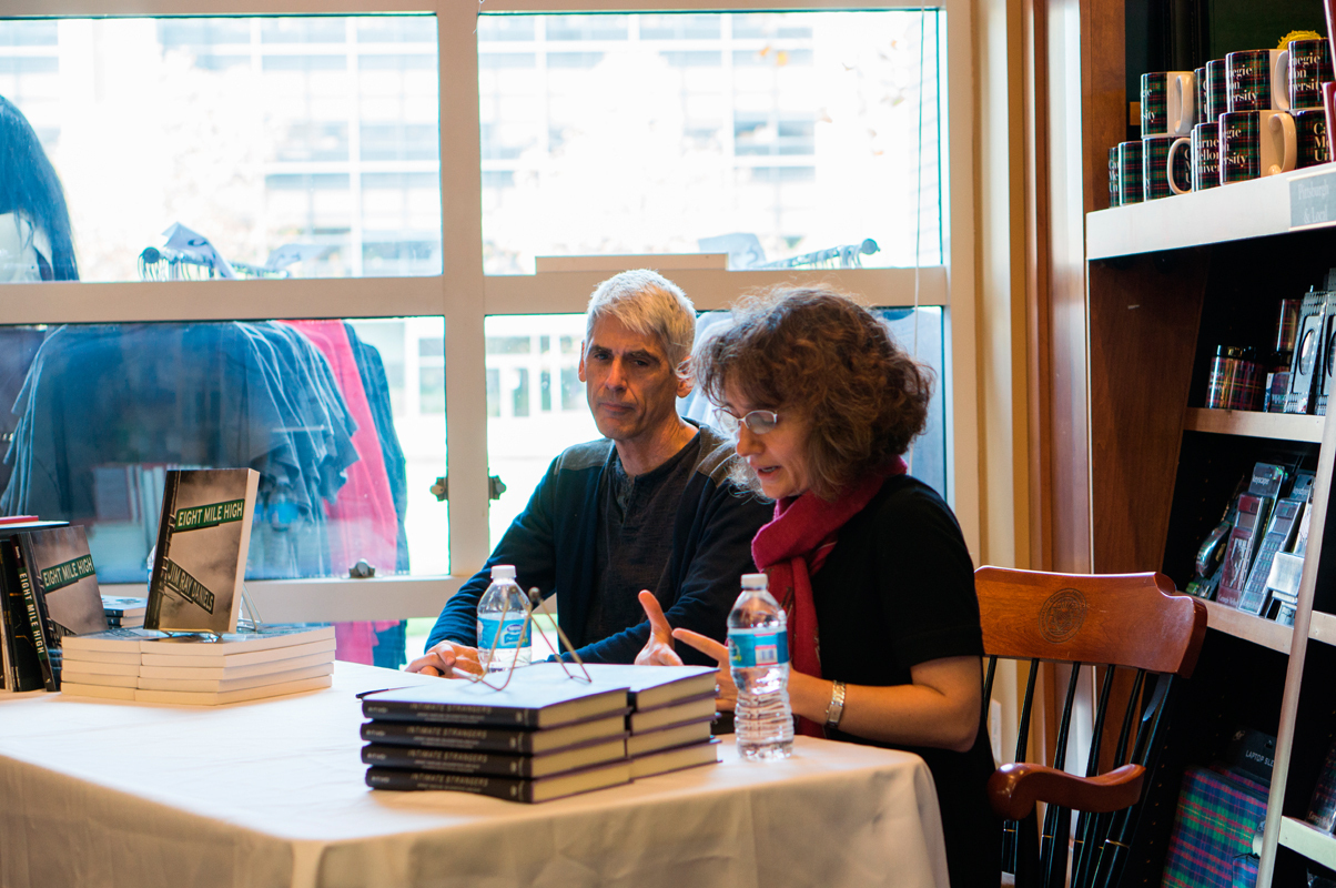 Jim Daniels (left) and Andreea Ritivoi (right) hosted a joint reading for their books on Friday. (credit: Abhinav Gautam/)