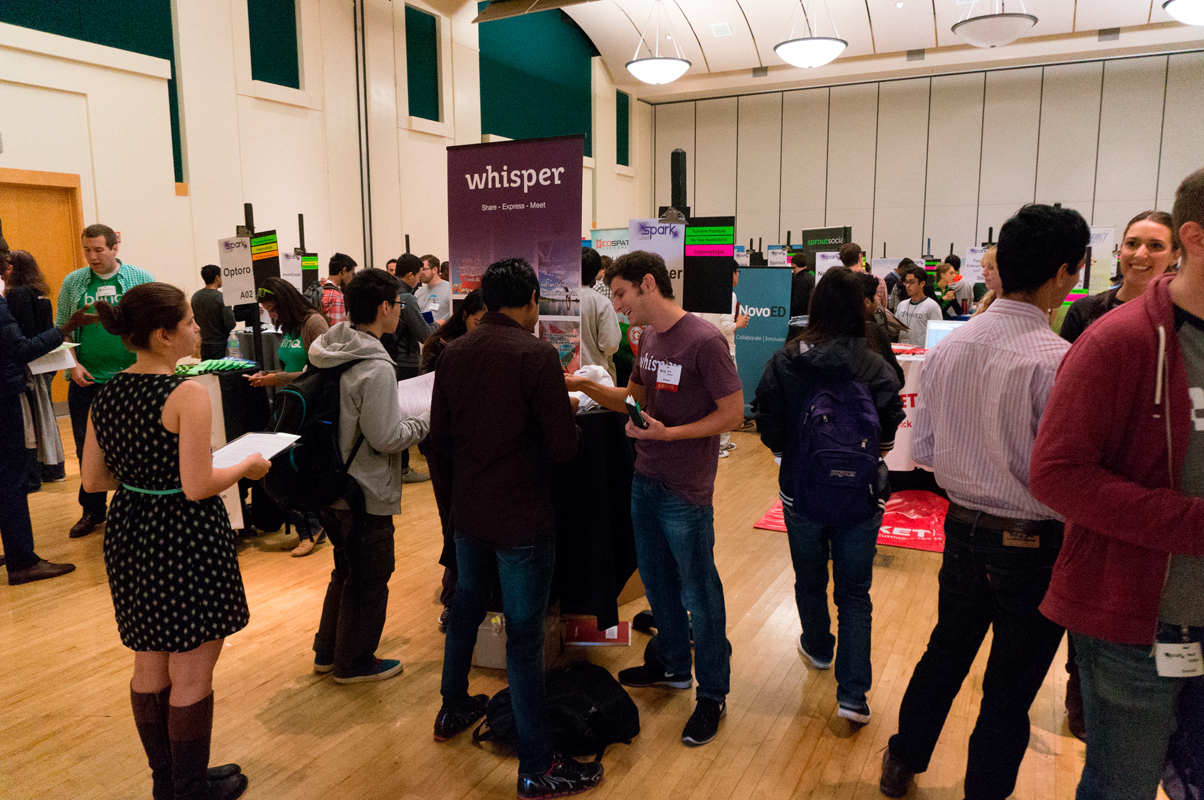 Students of all majors were welcomed to Spark, a career fair for startup businesses, on Thursday to try their luck in the startup industry. (credit: Abhinav Gautam/)
