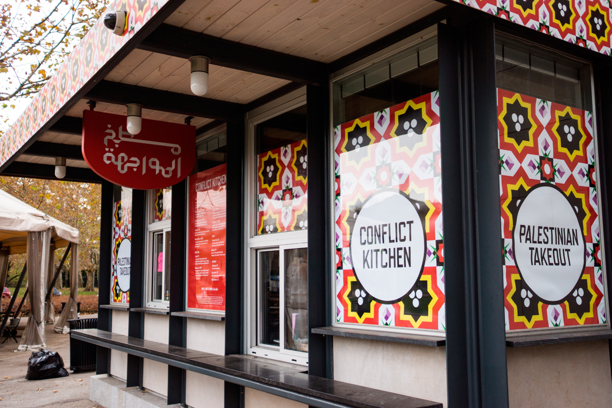Conflict Kitchen, a restaurant opened by a Carnegie Mellon professor of art and former student, recently started serving food from Palestine and hosting lunchtime speakers, which some students saw as anti-Israel. (credit: Yeongwoo Hwang/)